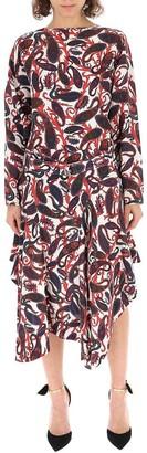 Chloé Paisley Long Sleeve Dress