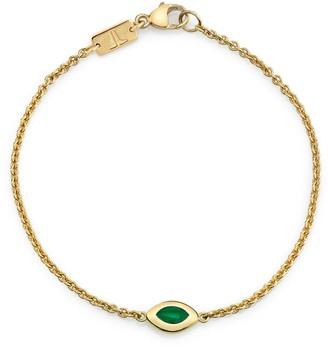 Andy Lif Green Enamel Cats Eye Bracelet