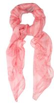 Alexander McQueen Skull and butterfly silk-chiffon scarf
