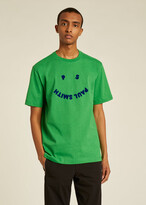 Thumbnail for your product : Paul Smith Men's Green 'Happy' Cotton T-Shirt