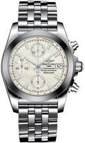 Breitling Chronomat 38 SleekT automatic chronograph mother of pearl dial stainless steel bracelet watch