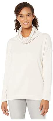 True Grit Dylan by Minky Cotton Ultra Soft Fleece Turtleneck (Stone) Women's Clothing