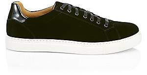 Saks Fifth Avenue BY MAGNANNI Velvet & Leather Simple Sneakers