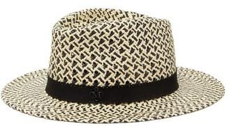 Maison Michel Andre Straw Hat - Womens - Black White