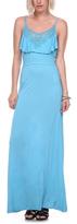 Stanzino Neptune Crochet-Ruffle Maxi Dress