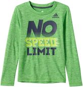 adidas Boys 4-7 climalite Space-Dyed Graphic Tee