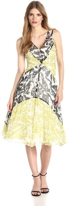 Tracy Reese Women's Silk Print Fit and Flare Dress