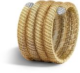 John Hardy Classic Chain Multiple Coil Bracelet with Diamonds