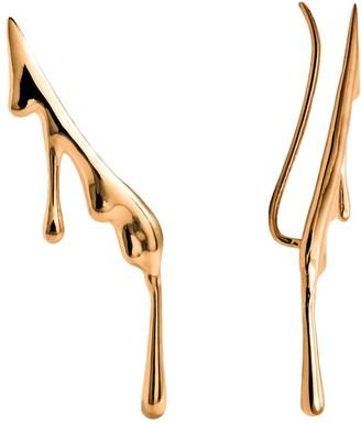 Marie June Jewelry Dripping 24k Gold Vermeil Ear Climber