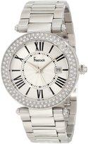 Freelook Women's HA1538M-4 All Silver Shiny Dial Swarovski Bezel Watch