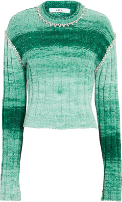 Area Crystal-Embellished Crewneck Sweater