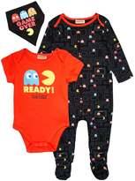 Mothercare PACMAN SET Babygrow black