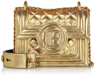 Balmain Gold Laminated & Quilted Leather 18 B-bag