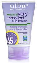 Alba Pure Lavender Sunscreen SPF 45 by 4oz Sunblock)