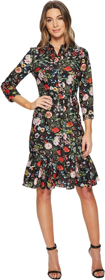 Adrianna Papell Women's Bloom Printed Shirtdress