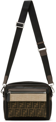 Fendi Black Medium Forever East/West Messenger Bag