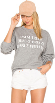 Private Party Palm Trees Desert Breeze Dance With Me Sweatshirt in Gray