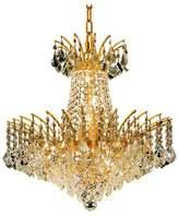 clear Graber 8-Light Unique / Statement Empire Chandelier Astoria Grand Finish: Gold, Crystal: Elegant Cut