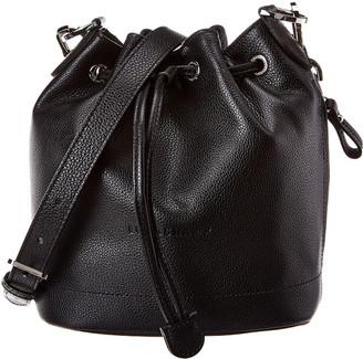 Longchamp Le Foulonne Small Leather Bucket Bag