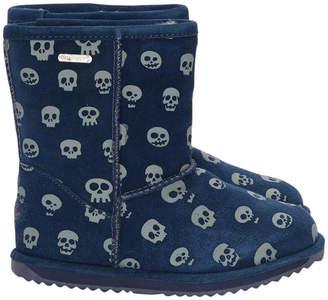 Emu Skulls Leather Boot