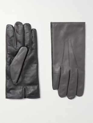 Paul Smith Colour-Block Leather Gloves