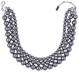 Laundry by Shelli Segal 10MM and 12MM Faux Pearl Three-Row Necklace