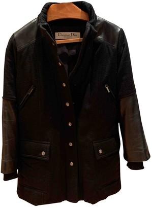 Christian Dior Black Leather Coat for Women Vintage