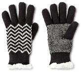 Isotoner Impressions By Women's Chevron Gloves - Black