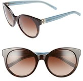 Tory Burch Women's 'Stacked' 54Mm Retro Sunglasses - Tortoise