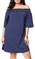 Rachel Roy Plus Size Women's Off The Shoulder Stripe Dress