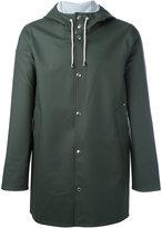 Stutterheim drawstring hood raincoat - unisex - Cotton/Polyester/PVC - XS