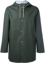 Stutterheim drawstring hood raincoat - unisex - Cotton/Polyester/PVC - XXS