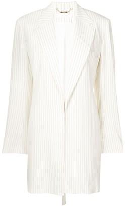 Chloé Striped Belted Blazer
