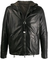 Low Brand hooded leather jacket