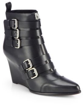 Tabitha Simmons Harley Leather Wedge Ankle Boots