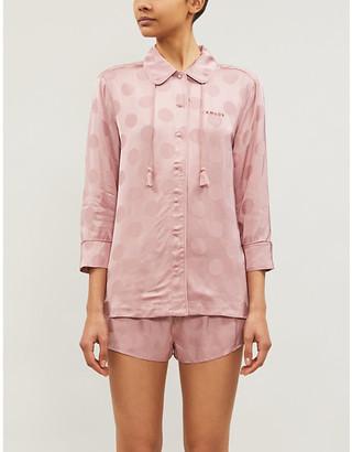 LOVE Stories Sunday spot-pattern satin pyjama bottoms