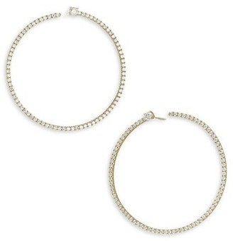 Anita Ko 18K Gold & Diamond Pave Bardot Hoop Earrings