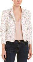 Rebecca Taylor Floral Leather Jacket
