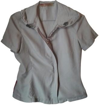 Prada Grey Silk Top for Women Vintage