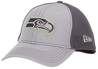 New Era NFL Grayed Out NEO 39THIRTY Flex Fit Cap - Seattle Seahawks (Gray/Black) Baseball Caps