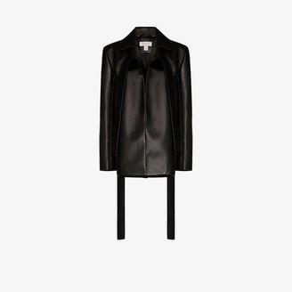 MATÉRIEL Faux Leather Blazer Jacket