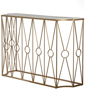 A&B Home 47In Marble & Brass Table