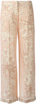 Valentino embroidered trousers - women - Silk/Spandex/Elastane/Lyocell/Virgin Wool - XS