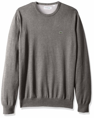 Lacoste Men's Long Sleeve Half Moon Crew Neck Jersey Sweater