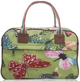 Kukubird Big Butterfly Print Matte Canvas Overnight Satchel with Kukubird Dust Bag