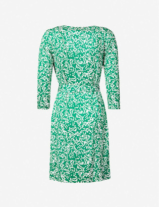 Diane von Furstenberg Miles graphic-print wrap-front silk mini dress