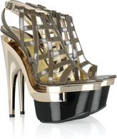 Versace Cutout leather platform sandals