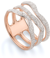 Monica Vinader Riva Diamond Wave Triple Ring