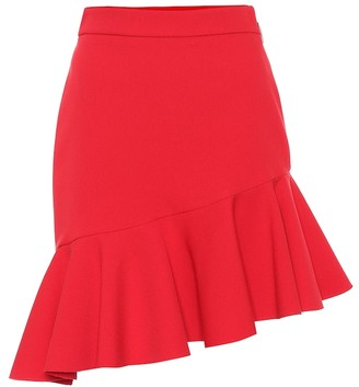 MSGM Stretch-crepe asymmetric miniskirt