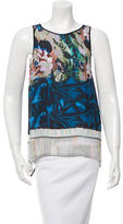 Clover Canyon Flyaway-Back Digital Print Top